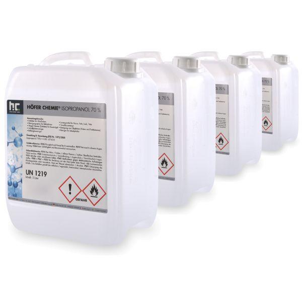 4x5 Liter Kanister Isopropanol IPA 70% Höfer Chemie