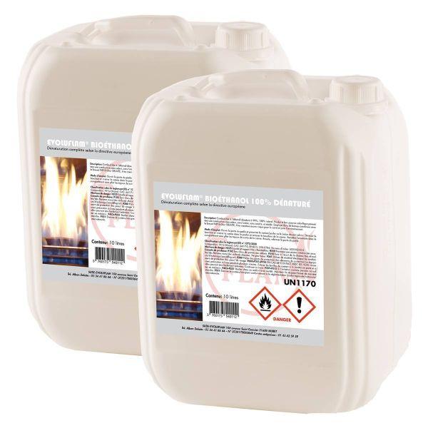 Evoluflam Bioethanol 100% hochrein 10 Liter Kanister