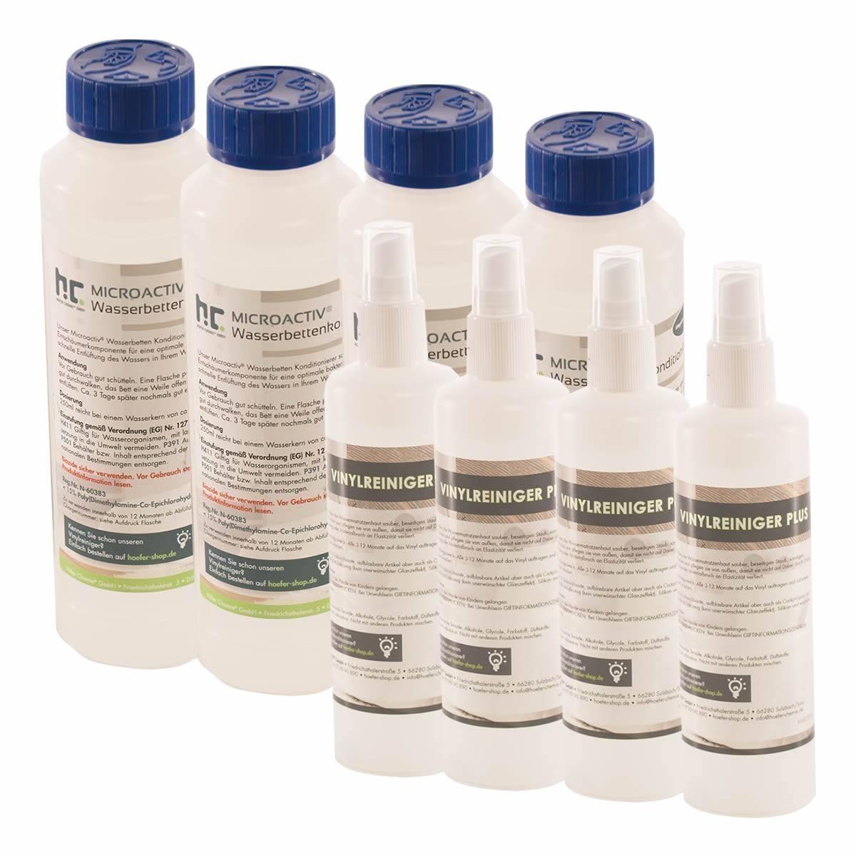Pack 4 conditionneurs + 4 nettoyants vinyle