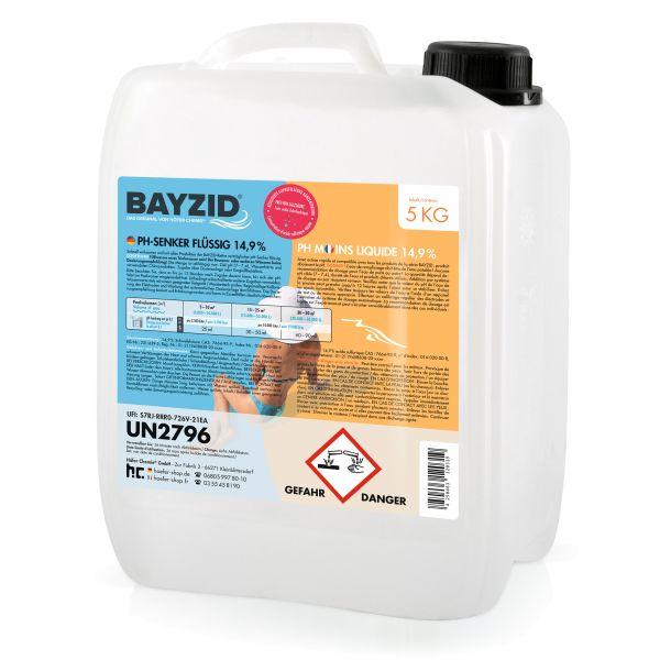 5 Kg Bayzid® pH moins liquide 14,9%
