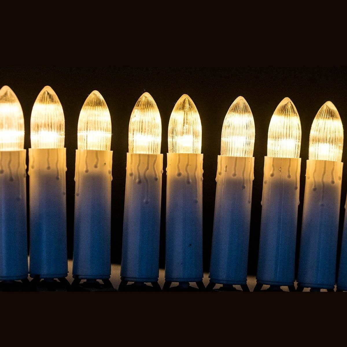 Guirlande pour sapin avec bougies LED