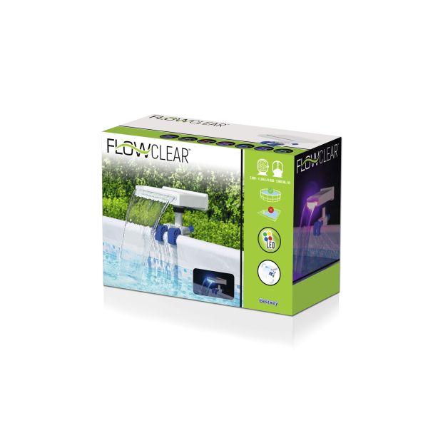 Flowclear™ Pool Wasserfall mit LED-Licht