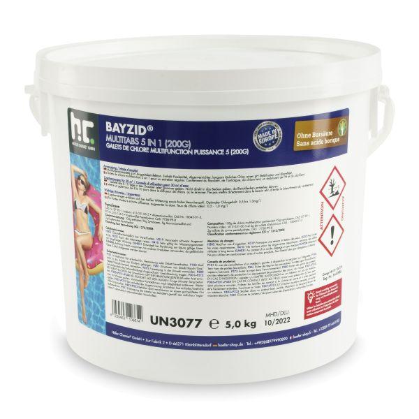 BAYZID Pool Multitabs 5in1 200g (5kg Eimer)