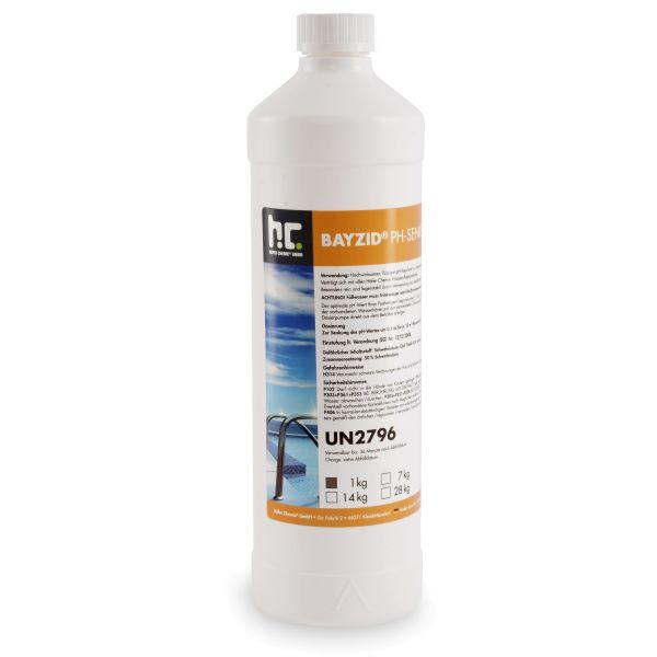 pH Senker / pH Minus 1kg Flaschen flüssig von Höfer Chemie