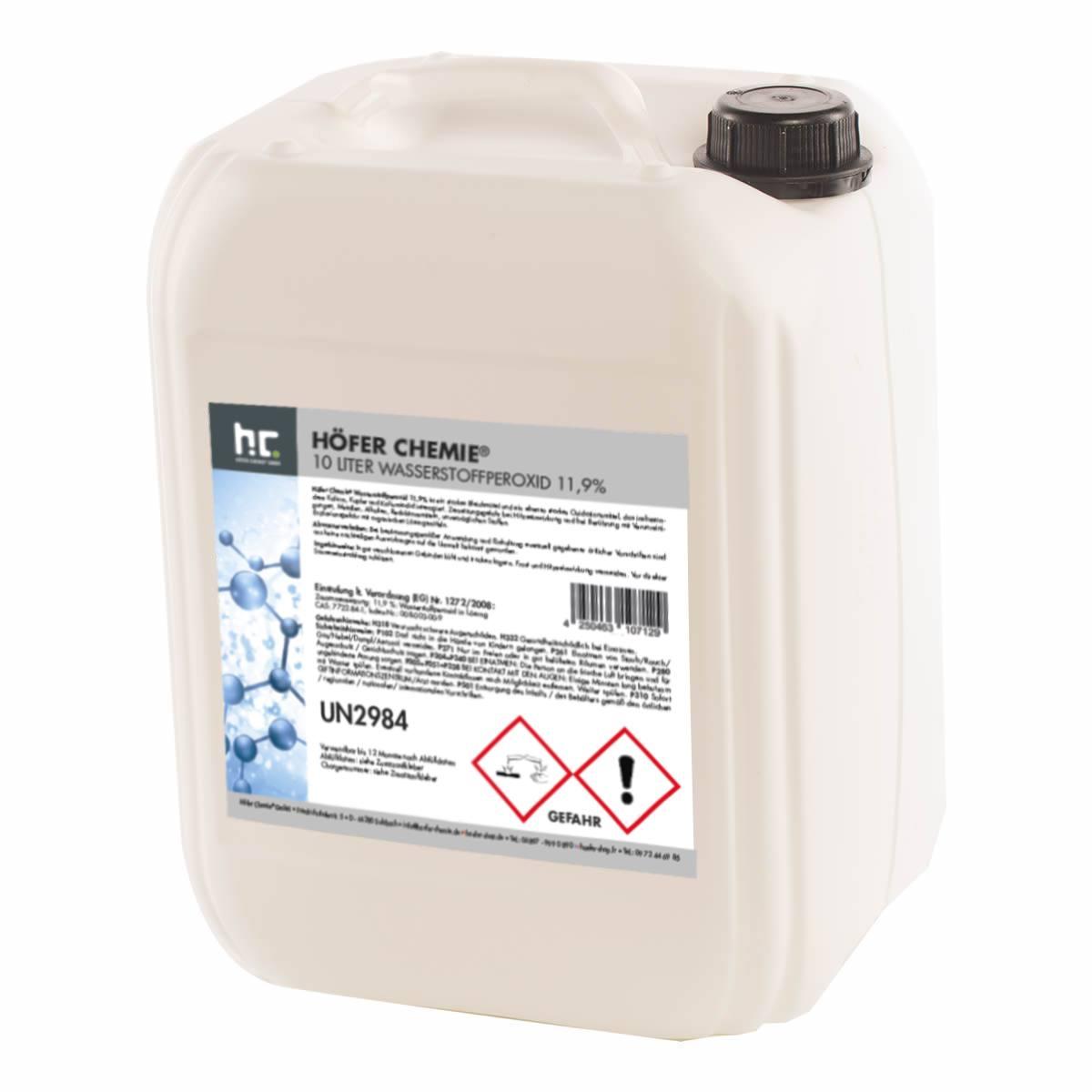 1 x 10 l p roxyde d 39 hydrog ne 11 9 hoefer shop - Peroxyde d hydrogene piscine ...
