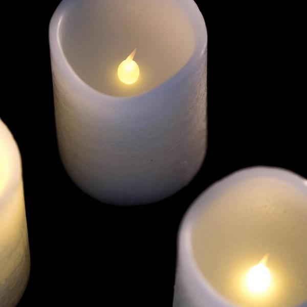Set de bougies de l'avent Led en cire