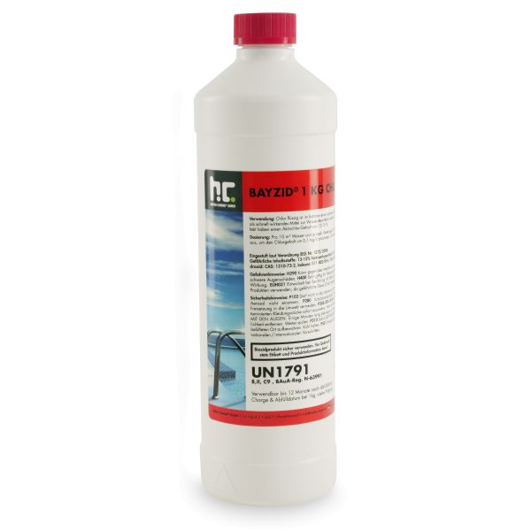 Chlor fluessig 1kg Flasche Galerie