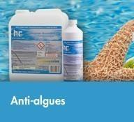 Produits piscine hoefer prix bas port offert for Anti algue piscine