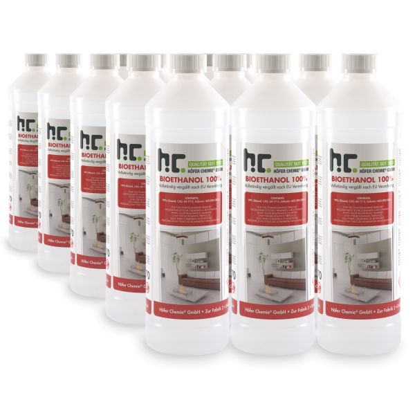 15 x 1 L Bioethanol 100% Höfer Chemie Brennstoff Tischfeuer Ethanolkamin