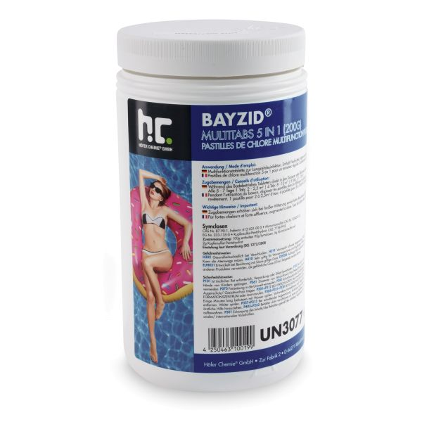 1kg BAYZID 200g-Multitabs 5-in-1 für Pools